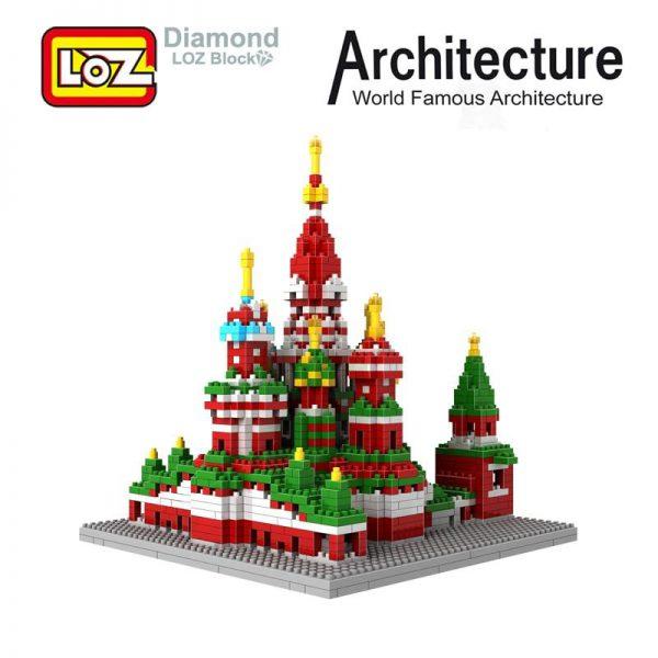 Russia ST Saint Basil's Cathedral LOz blocks
