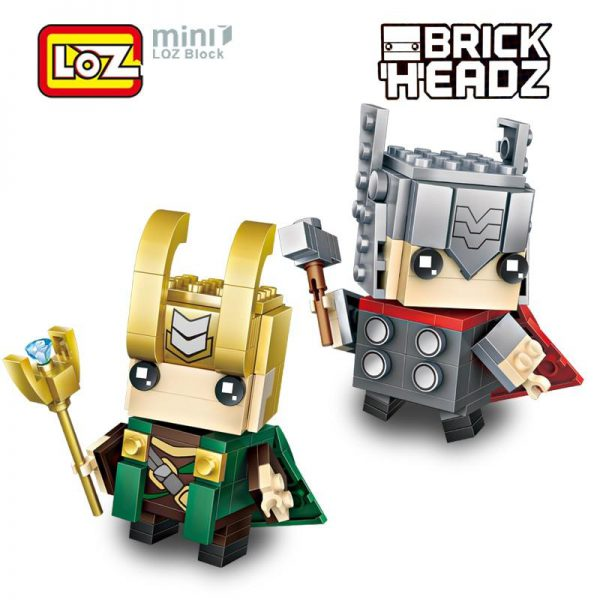 LOZ Brickheadz Thor Loki God Super Hero