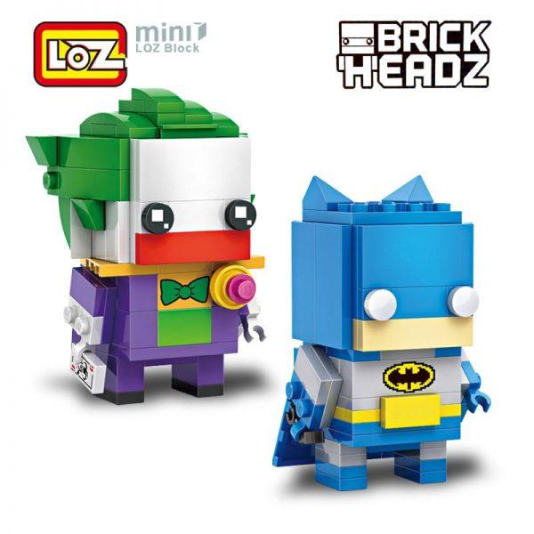 LOZ Brickheadz Batman and Joker Super Hero 2in1