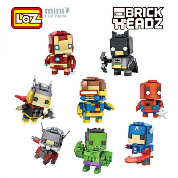 LOZ Mini Super Hero Blocks Batman Captain America Thor Iron man