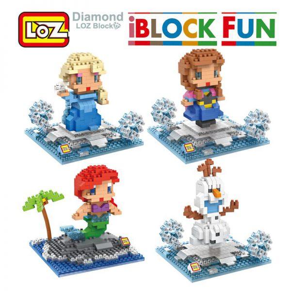 iBlock Fun Princess Ariel Elsa Anna Olaf Toy Doll