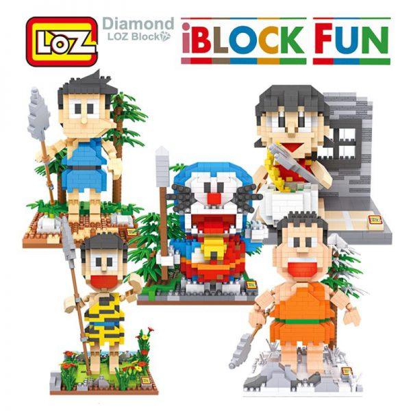 iBlock fun LOZ Doraemon + Nobita + Xuka +Chaien +Xeko