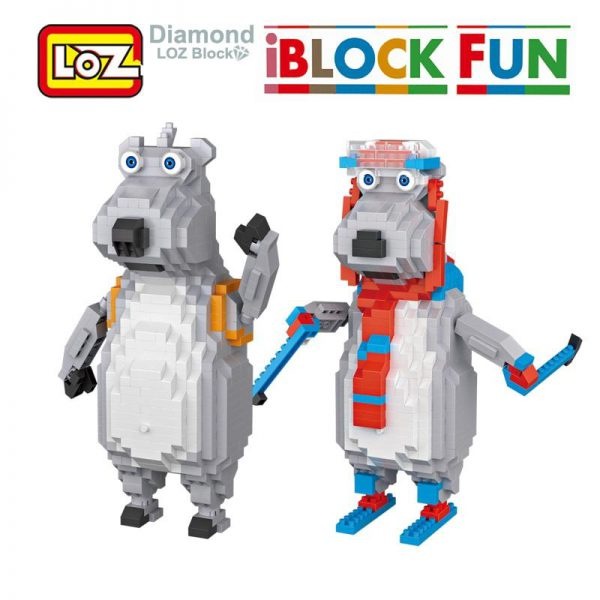 LOZ Unlucky Polar bear Cartoon Building Diamond Blocks