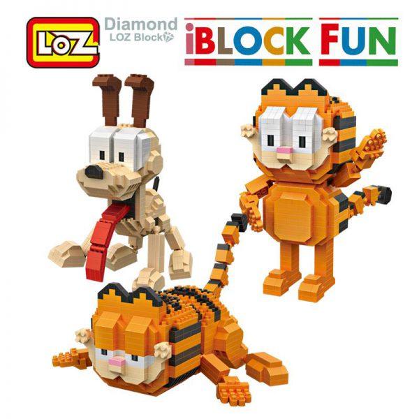 LOZ Garfield Odie Orange Cat Dog