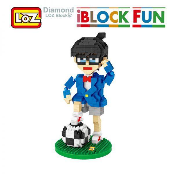 iBlock Fun Detective Conan Football Action Figure Toy Blocks