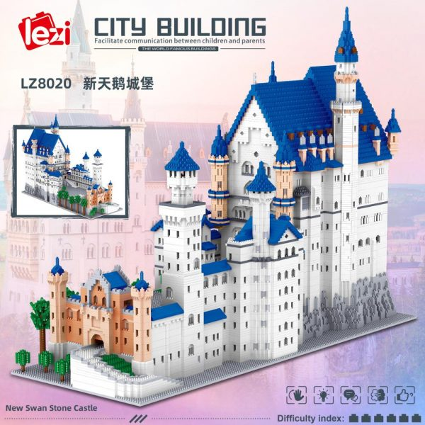 11810pcs New Swan Stone Castle Micro Building Blocks Famous Architecture LZ8020 Mini Bricks Kid Blocks Toys1 - LOZ™ MINI BLOCKS
