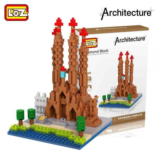 LOZ Diamond Blocks Sagrada Familia Church Official LOZ BLOCKS STORE