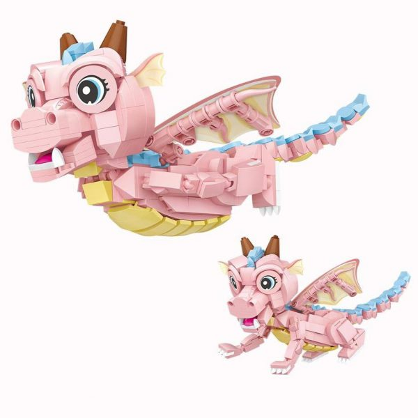 Loz Mini Blocks Pink Dinosaur Baby Official LOZ BLOCKS STORE