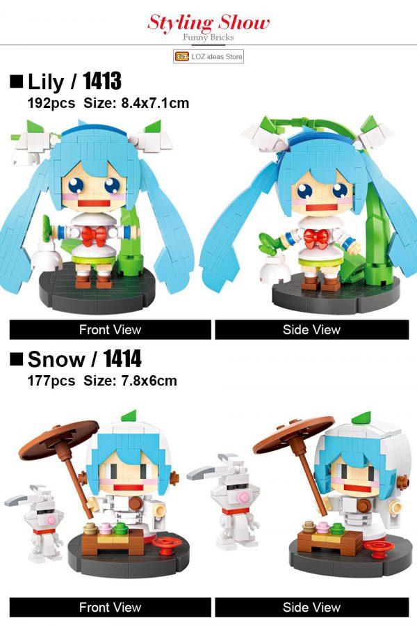 LOZ Mini Blocks Hello Girl Character Official LOZ BLOCKS STORE