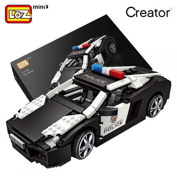 LOZ Mini Blocks Technic Police Car Official LOZ BLOCKS STORE