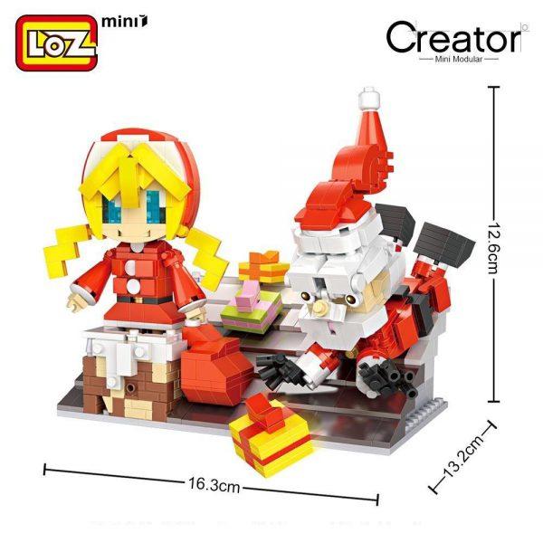LOZ Mini Blocks Santa Claus Gift Little Girl Official LOZ BLOCKS STORE