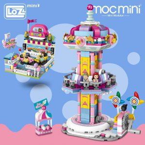 LOZ Mini Blocks Bumper Car Jumping Machine Official LOZ BLOCKS STORE