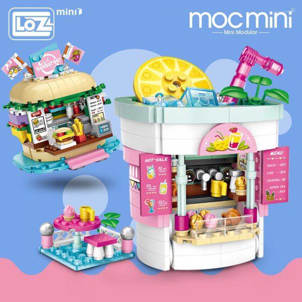 LOZ Mini Blocks Amusement Park & Drinks Shop & Burger Shop Official LOZ BLOCKS STORE