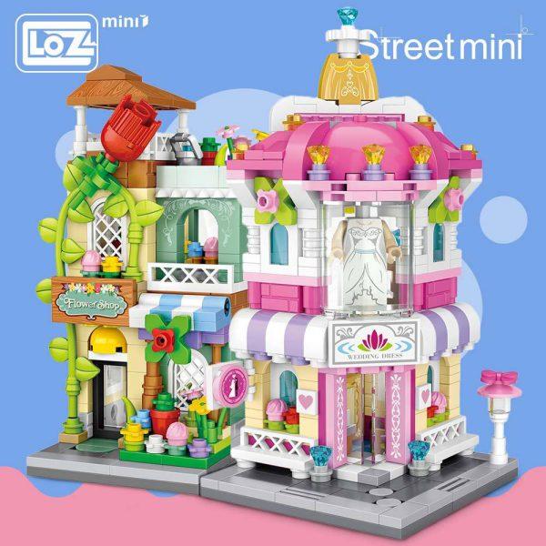 LOZ Mini Block Florist Perfume Bridal Shop Cinema Official LOZ BLOCKS STORE