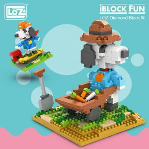 LOZ Diamond Blocks Cartoon Dog Official LOZ BLOCKS STORE