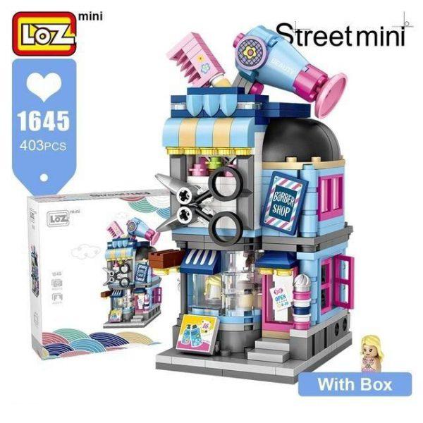 LOZ Mini Block Barber Bakery Photo Clothing Shop Official LOZ BLOCKS STORE