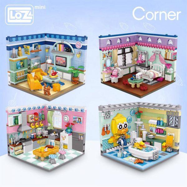 LOZ Mini Building Blocks Home Scene Model Corner Scene Official LOZ BLOCKS STORE