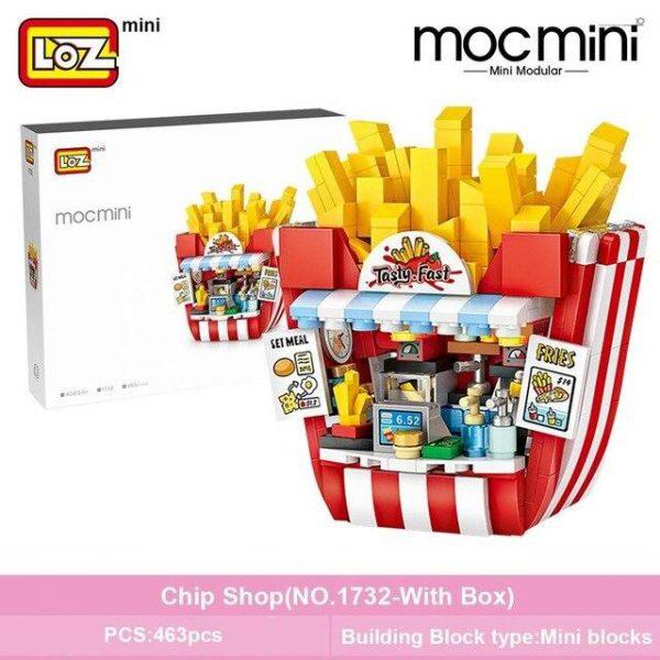 LOZ Mini Blocks Cake Shop French Fries Shop Official LOZ BLOCKS STORE