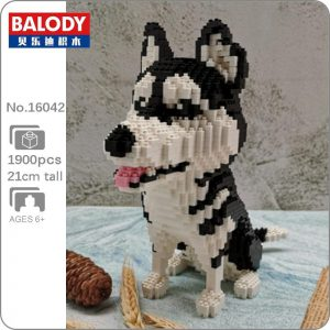Balody 16042 Animal Siberian Husky Dog Official LOZ BLOCKS STORE