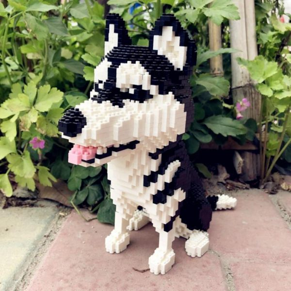 Balody 16042 Animal Siberian Husky Dog Official LOZ BLOCKS STORE