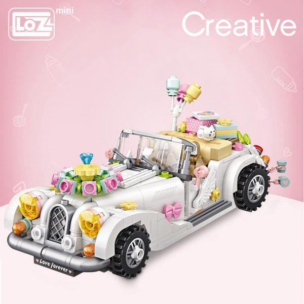LOZ Mini Blocks White Wedding Car Official LOZ BLOCKS STORE