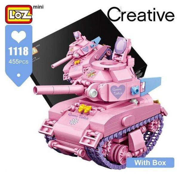 LOZ Mini Blocks Cute Pink Tank Official LOZ BLOCKS STORE