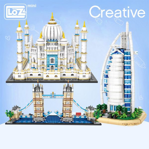 LOZ Mini Building Block London Tower Bridge Aegis Sailing Hotel Official LOZ BLOCKS STORE