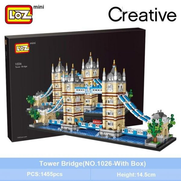LOZ Mini Building Block London Tower Bridge Aegis Sailing Hotel Official LOZ BLOCKS STORE