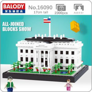 Balody 16090 USA The White House World Famous Architecture Official LOZ BLOCKS STORE