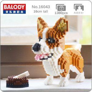 Balody 16043 Animal Welsh Corgi Dog Official LOZ BLOCKS STORE