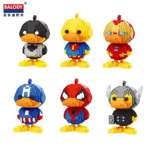 Balody Cartoon Hero Duck Official LOZ BLOCKS STORE