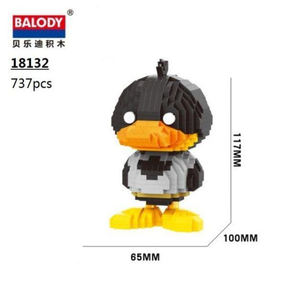 Balody Cartoon Hero Duck Official LOZ BLOCKS STORE