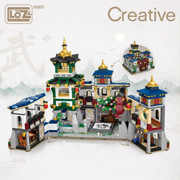 LOZ Mini Block Kung Fu Jingwu Museum Official LOZ BLOCKS STORE