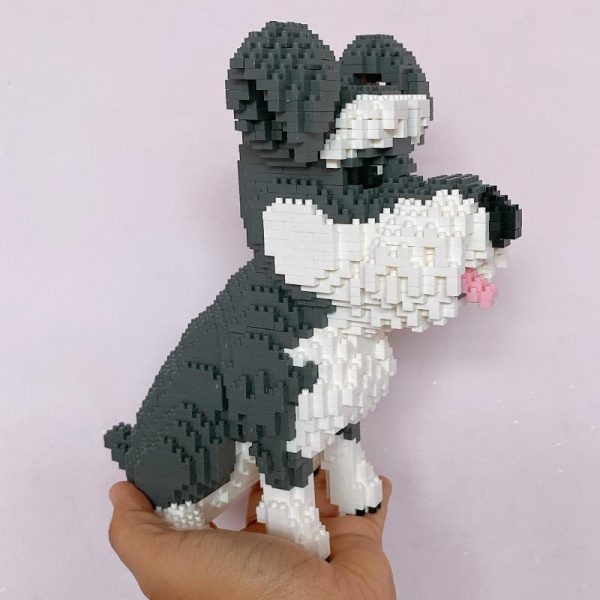 Balody 16049 Grey Schnauzer Dog Official LOZ BLOCKS STORE