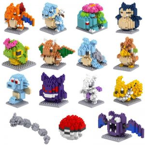 LNO POKEMON Building Blocks Action Figure Granules Official LOZ BLOCKS STORE