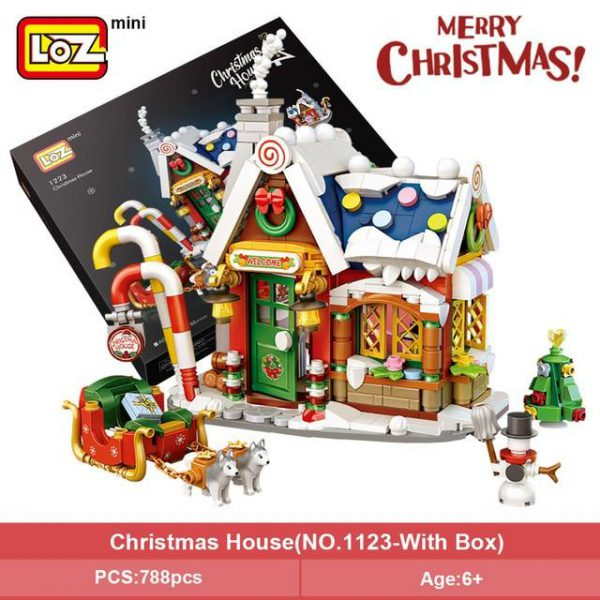 LOZ Mini Blocks New Christmas House Official LOZ BLOCKS STORE