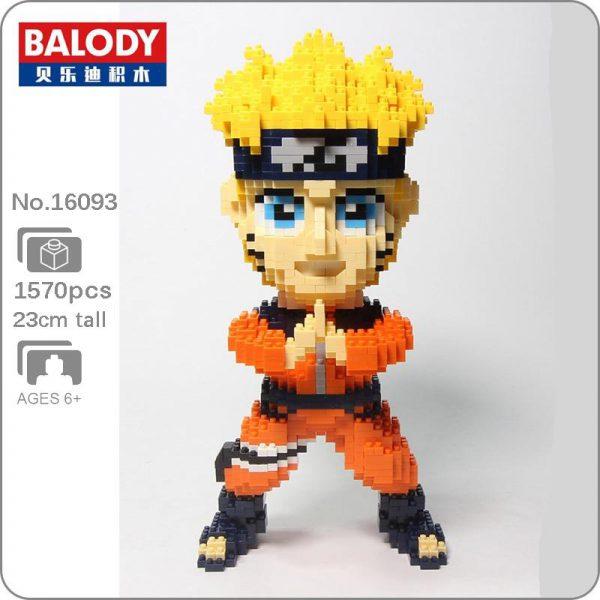 Balody 16093 Anime Naruto Hokage Uzumaki Official LOZ BLOCKS STORE