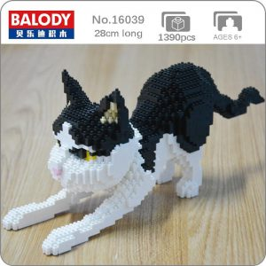 Balody 16039 Persian Cat Black Kitten Official LOZ BLOCKS STORE