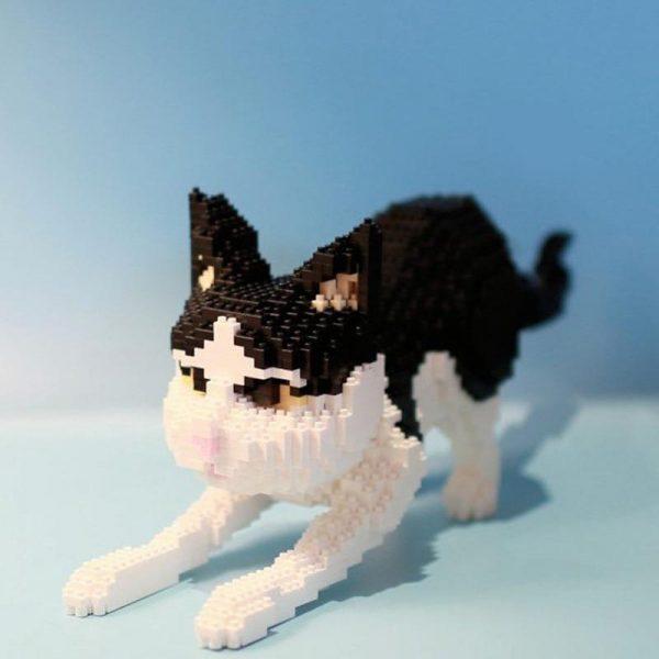 Balody 16039 Persian Cat Black Kitten Official LOZ BLOCKS STORE