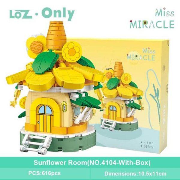 LOZ Mini Building Blocks Mushroom & Sunflower Room Official LOZ BLOCKS STORE