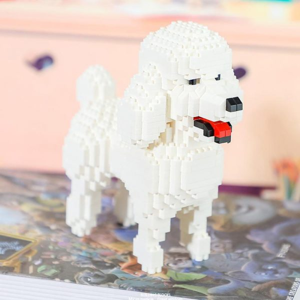 Balody 18246 Animal White Poodle Dog Official LOZ BLOCKS STORE