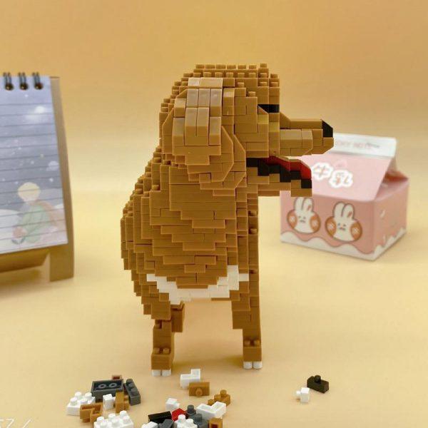 Balody 18243 Animal Golden Retriever Dog Official LOZ BLOCKS STORE