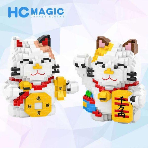 HC Mini Blocks Maneki Neko Fortune Cat Official LOZ BLOCKS STORE