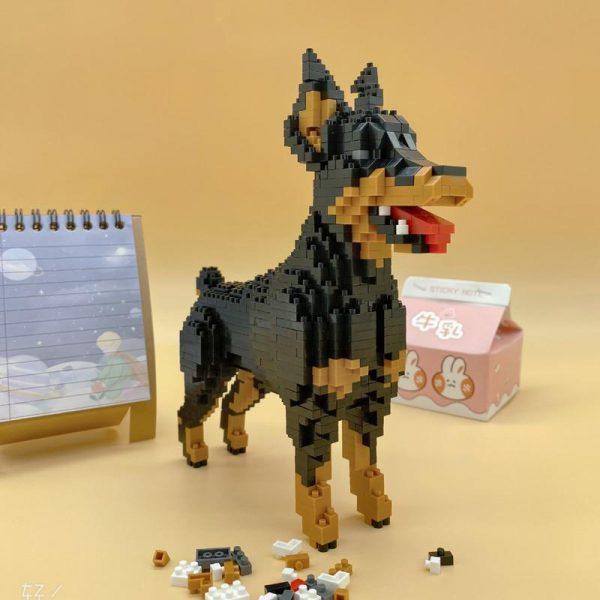 Baoldy 18247 Animal Black Dobermann Dog Official LOZ BLOCKS STORE