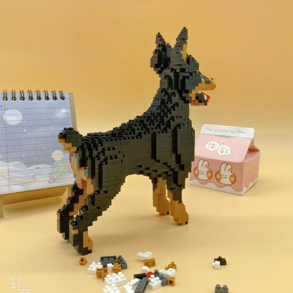 Baoldy 18247 Animal Black Dobermann Dog Official LOZ BLOCKS STORE