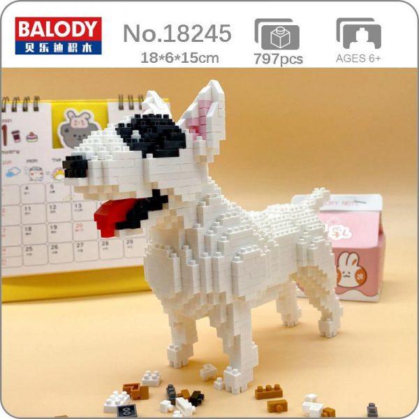 Balody 18245 Animal American Pit Bull Terrier Dog Official LOZ BLOCKS STORE