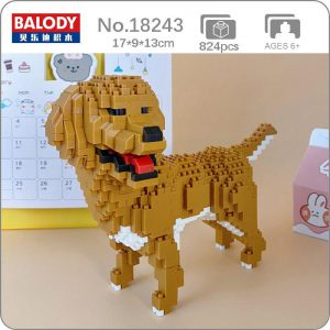 Balody 18243 Animal Golden Retriever Dog Official LOZ BLOCKS STORE