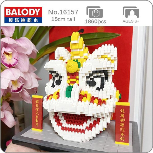 Balody 16157 China Spring Festival Lion Dance Official LOZ BLOCKS STORE