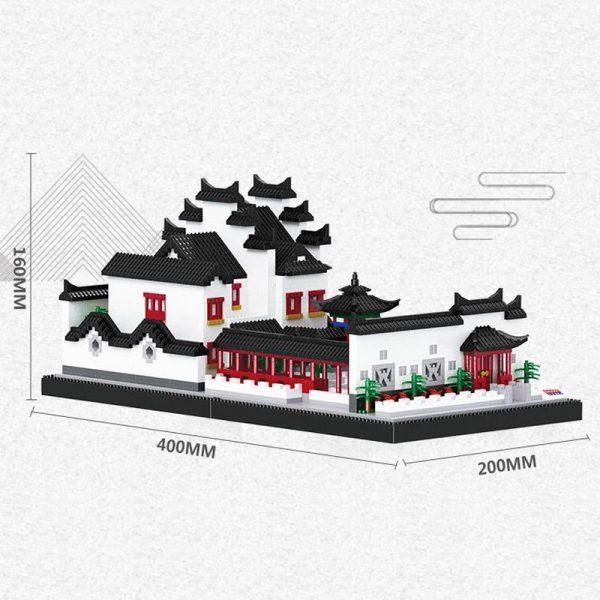 Balody 16215 Garden House Courtyard Lake Tree World Architecture Official LOZ BLOCKS STORE