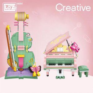LOZ Mini Building Blocks  Piano Violin Musical Instrument Official LOZ BLOCKS STORE